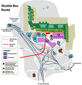 OR Tambo Airport Shuttle bus Route