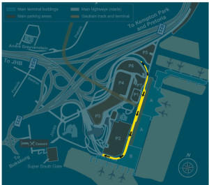 drop off zone or tambo airport