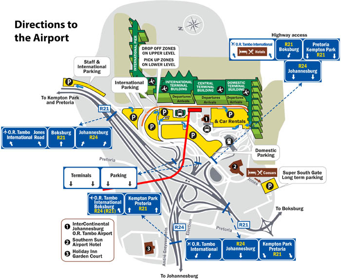 Directions Or Tambo Airport
