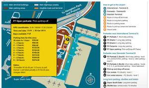 or tambo airport open parking
