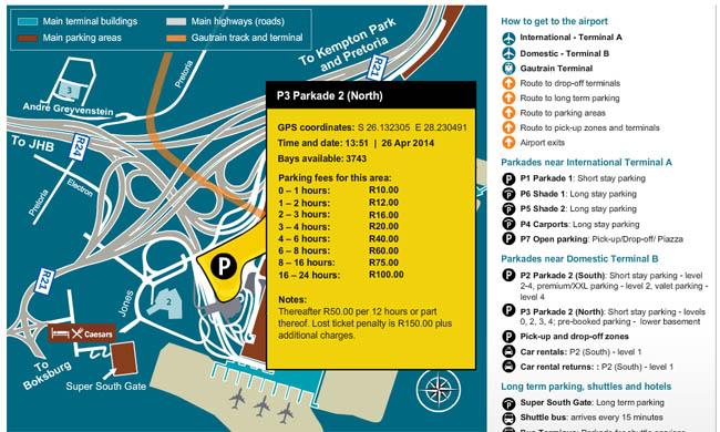or tambo airport parkade 3