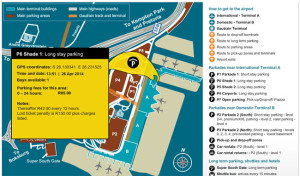 or tambo international airport long stay parking- shaded