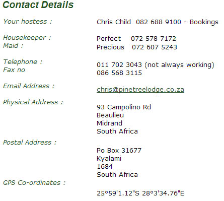 or tambo contact details