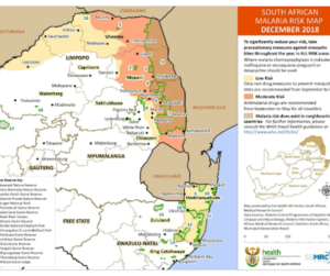 malaria risk areas in South Africa
