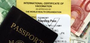 passport and yellow fever certificate